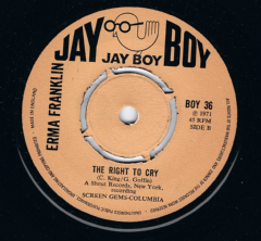 Erma Franklin The Right To Cry Jay Boy Mint